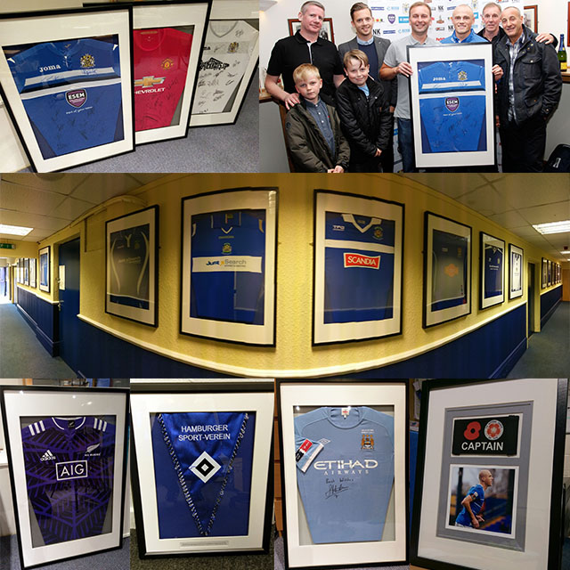 Great value Shirt/Memorabilia framing, Stockport, Cheshire, Greater Manchester
