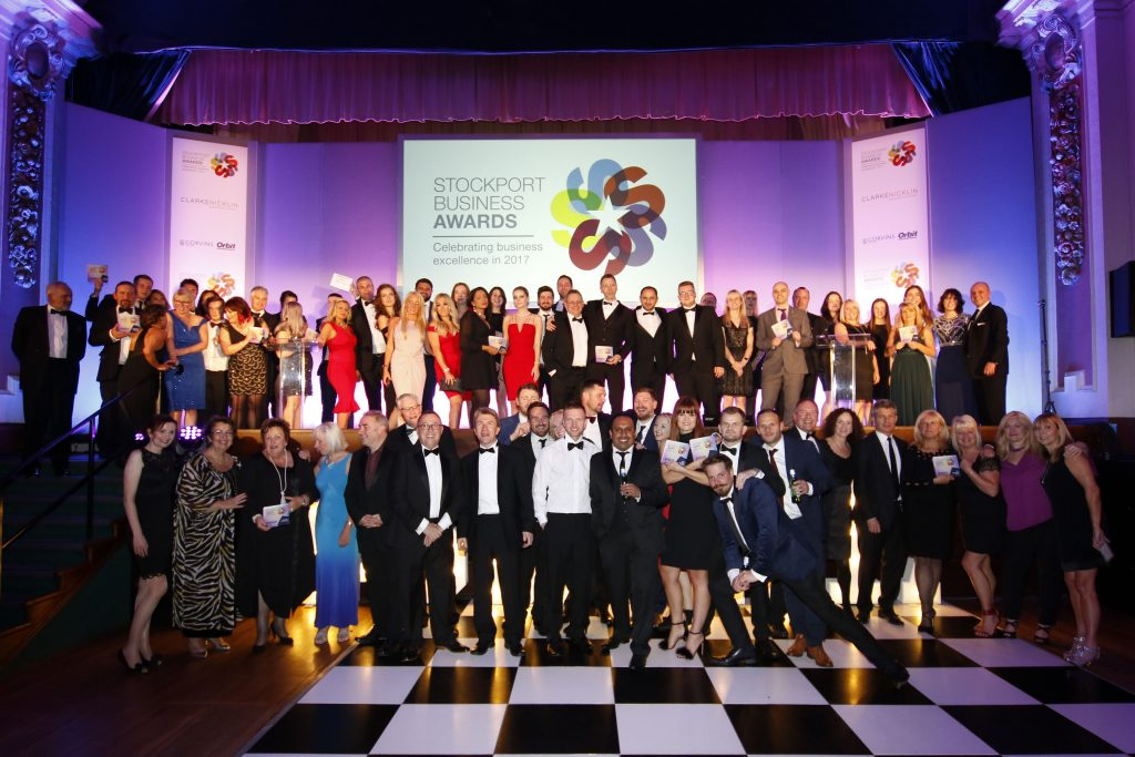The winners at the 2017 Stockport Business Awards